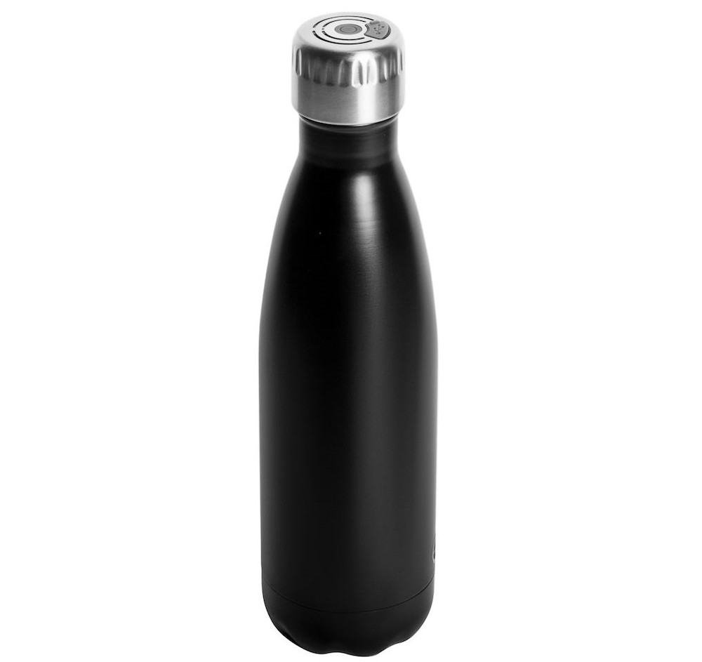 Teräksinen juomapullo bluetooth kaiuttimella 5018061
