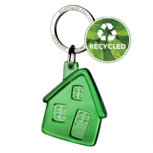 Talo-avaimenperä kierrätetystä materiaalista
