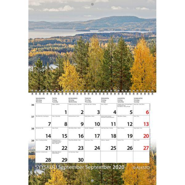 Seinäkalenteri - taittomaisema