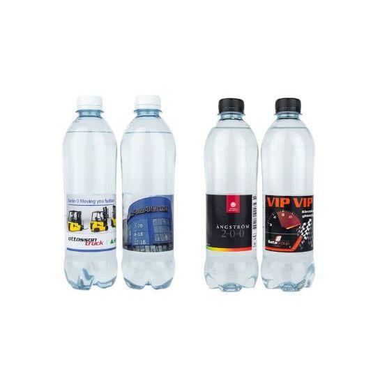 Vesipullo omalla etiketillä 0,5L kotimainen