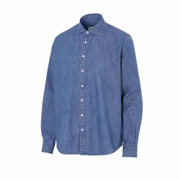 Sunglobe-miesten-farkkupaita comfort fit sininen